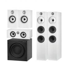 B&W 603S2(White) + 607S2(White) + HTM6S2(White) +ASW608(Black)스피커 패키지