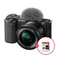 [32G메모리 증정]소니 브이로그 카메라 ZV-E10 렌즈KIT[블랙][본체+16~50mm 파워 줌렌즈]