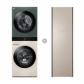 오브제컬렉션 워시타워 W16EG (세탁기24kg, 건조기16kg, 드럼-베이지,건조기-그린) + 스타일러 S5RFO 의류관리기 (5벌, 미스트 클레이 브라운)