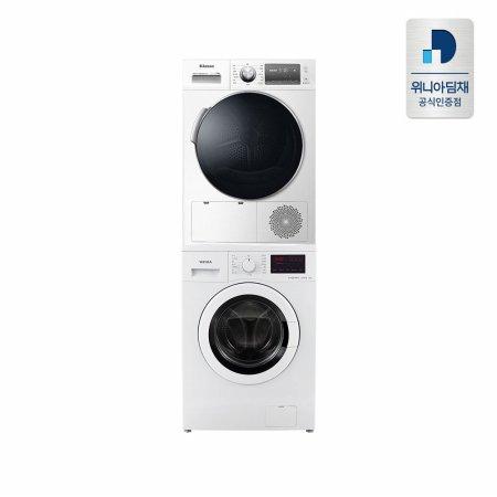 세탁기(9kg) + 건조기(10kg) 직렬세트 DWR-10MCWRH+EWD09REW