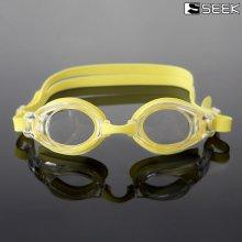 SEEK 물안경 보급형 아동용 수경 (옐로우