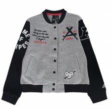 아디다스 키즈 주니어 컬리지에이트 봄버 자켓 점퍼 매장판-FL1779