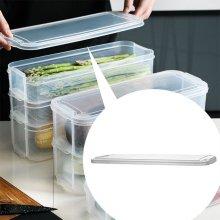 냉장고 정리 야채 식재료 투명 용기 적층 보관통 뚜껑